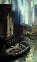 Study of Hammerfest The Northern Lights by Korovin by Birgitte-Gustavsen