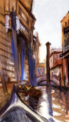Study of Side Canal in Venice by John Sargent by Birgitte-Gustavsen