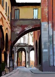 Study of Piazza Dei Marcanti by Birgitte-Gustavsen