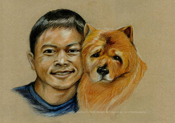Portrait Don with friend by MarthaLaufej