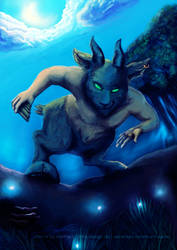 Satyr - Good Evening - by marthalaufej by MarthaLaufej