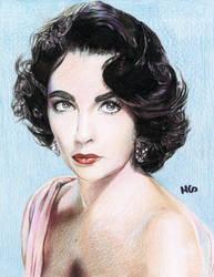 Elizabeth Taylor by cherrymidnight