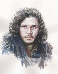KIT HARINGTON John Snow - Game of Thrones by AbdonJRomero