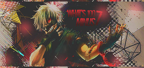 What's 100 - 7  // Photoshop CC by fred22e