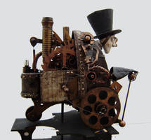 steam punk cyborg view 2 by impsandthings