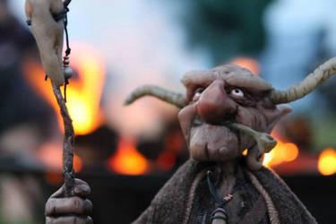 Imp Shaman at Burning Man  ceremony by impsandthings
