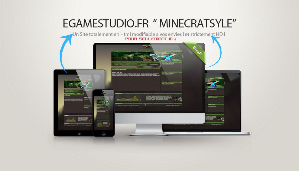 Minecraft Template HTML By EGAMESTUDIO