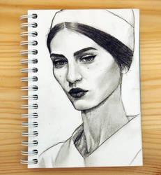 nun by aquaticmine