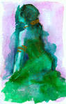 Woman in Green Dress by matildarose