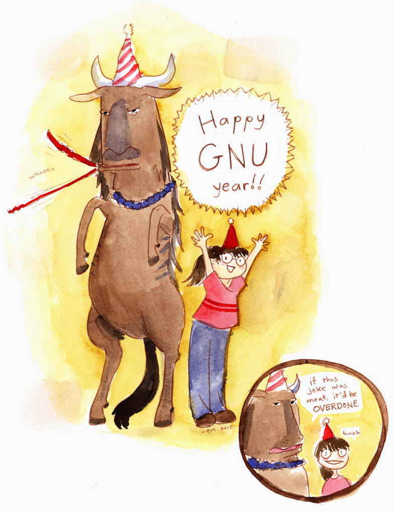 Happy Gnu Year! by matildarose