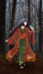 Kitsune Haine of the Mantis Clan by matildarose