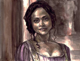 Angel Coulby as Guinevere by otter-party