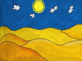 Sloneczna pustynia by Kanindor