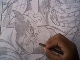 hulk vs wolverine by asahwallas