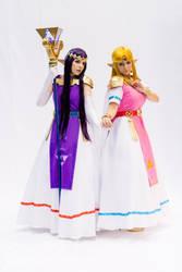 Zelda and Hilda by luna-ishtarcosplay