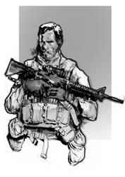 soldier sketch by Gaboxelias