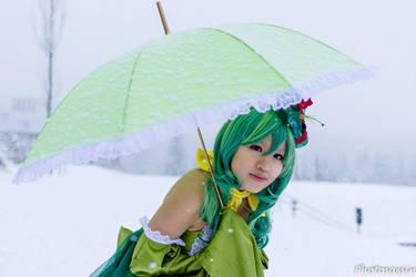 Share my umbrella with me? [Lilligant Pokejinka] by xwhisper
