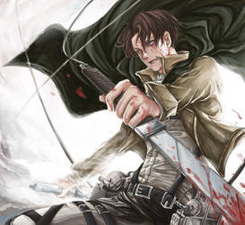 Rivaille - attack on titan by unvB