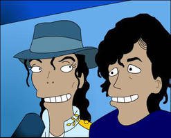 Simpsons_Michael and Me by wolfjedisamuel