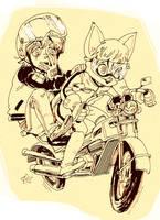 Behind cat by KaneoyaSachiko