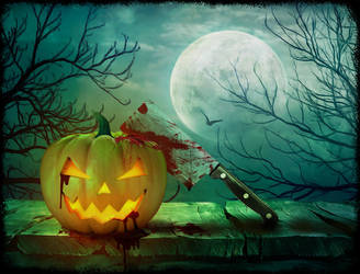 Bloody Pumpkin - Halloween of Horrors Contest by Elettra