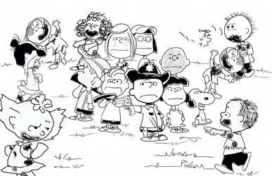 Walking Dead Peanuts by JuanCarlosPineda
