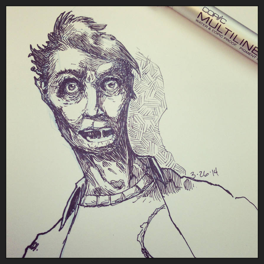 Copic Zombie by ezwerk
