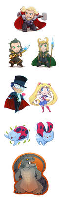 Chibi-Art Dump by animon