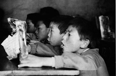 Chanting Tibetan Children by Peanut-Dragon