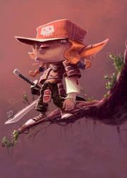 Samurai Elf by thurZ