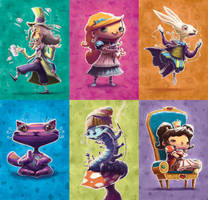 Sonhando com Alice Board Game - Alice Characters by thurZ