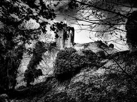 Corfe Castle by basement-ghost