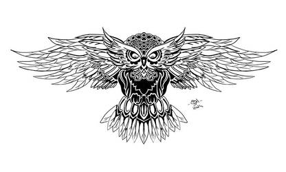 Owl tatoo by Gilmeril