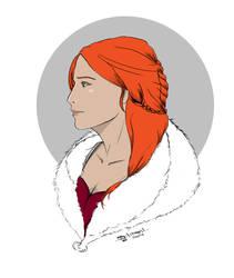 GW2 FanART :: Triss Elvien - elementalist by Gilmeril