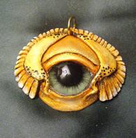 Flying Eye Pendant by mistyscreations