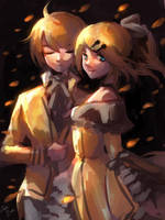 21-8-2018 Rin and Len by CeryliaRectris