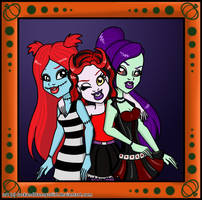 C: Halloween Girls Portait by pixiesera