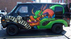 Black 13 Tattoo Van by RietOne
