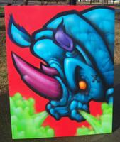 Rhino Canvas by RietOne