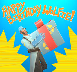 Happy Bappy Wolfie (GMOD) by Auntie-Mags