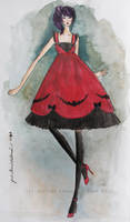 Ink and Crimson by jajaneko