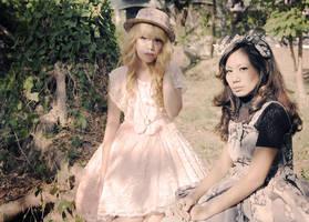 Dolls under the shade by jajaneko