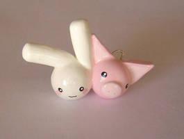 Bunny Luvz Piggy by janeybaby