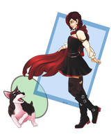 Ruby and Zwei by kmkibble75