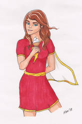 Random Super Hero Project: Mary Marvel by kmkibble75