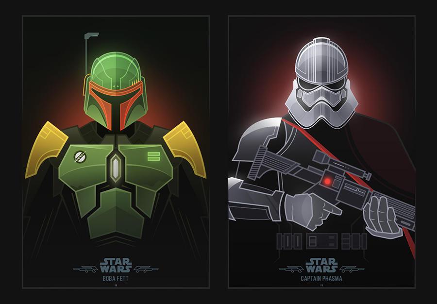 Star Wars Villains by shoelesspeacock