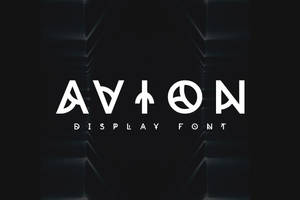 Avion Font by shoelesspeacock