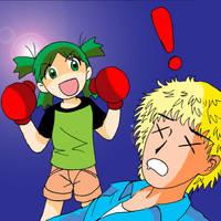 Yotsuba vs Yanda by Koku-chan