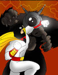 Space Ghost vs Ro-Man by Koku-chan