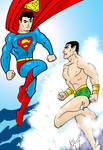 Superman vs Sub-Mariner by Koku-chan